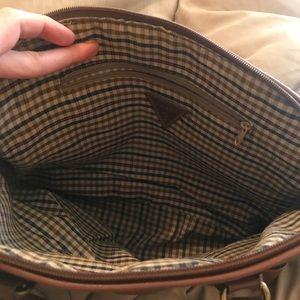 Vintage Guess Dark GreenBlack Pebbled Leather Bag